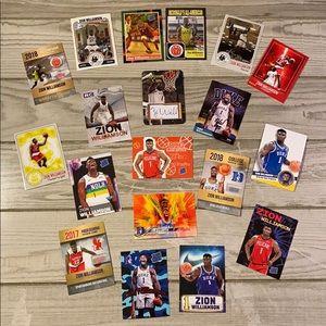 Zion Williamson basketball 🏀 cards.